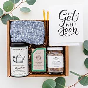 UnBoxMe Get Well Care Package For Men   Birthday Gift For Men   For Dad or Boyfriend   Cancer Gift, Sobriety Gift (Get Well Soon Card)