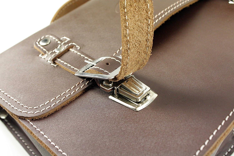 Kleine Leder Hecktasche mit Schnellverschluss Gepäckträger Tasche Packtasche Braun für Simson Schwalbe Sperber Star Spatz KR50 KR51 SR4 Auto & Motorrad Leder & Satteltaschen