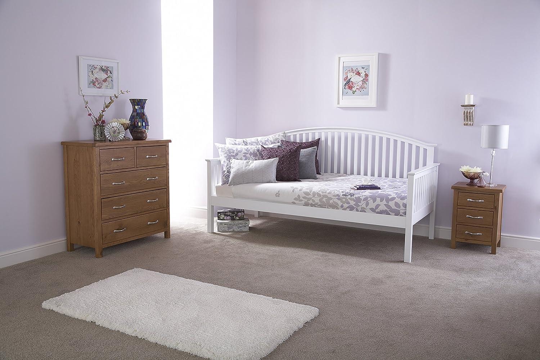 Madrid Conjunto de sofá cama y cama nido, roble o blanco: Amazon.es: Hogar