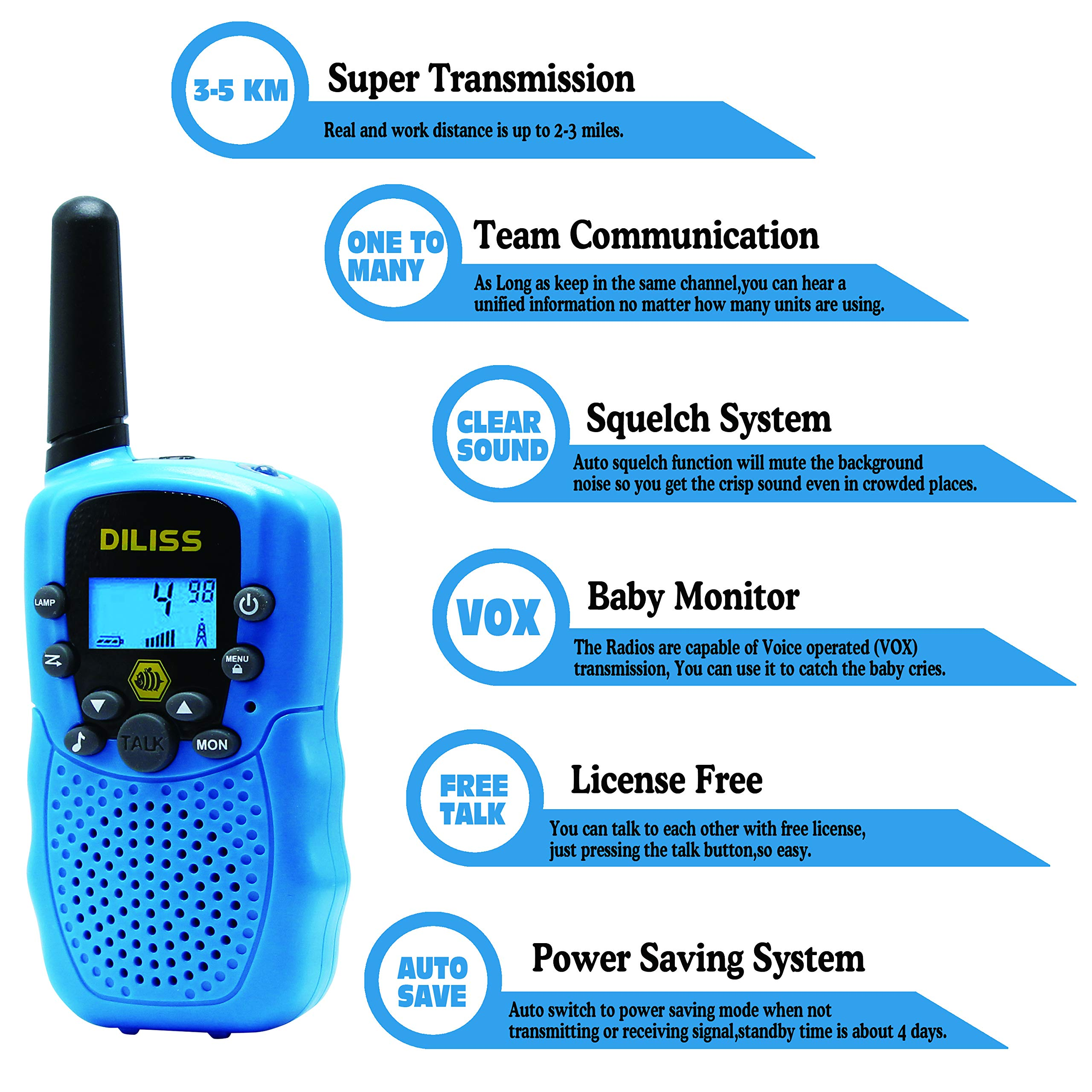 DilissToys Walkie Talkies for Kids by DilissToys (Image #7)