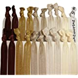 Kenz Laurenz Hair Ties Ponytail Holders – Brown Ombre (20 Pack)