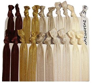 Amazon.com   Kenz Laurenz Hair Ties Ponytail Holders - Brown Ombre (20  Pack)   Beauty 4c62b133b6d