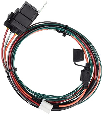 amazon com: be cool 75021 electric radiator fan wiring harness kit, turns  on at 195 degrees and off at 175 degrees: automotive