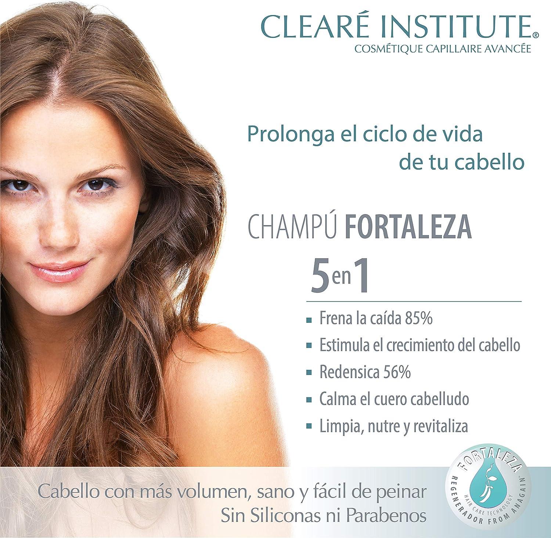 Cleare Institute Champú Fortaleza Anticaída - Limpia, Nutre Y Fortalece. Frena La Caída Y Estimula El Crecimiento | 97% Ingredientes Naturales, 400 ...