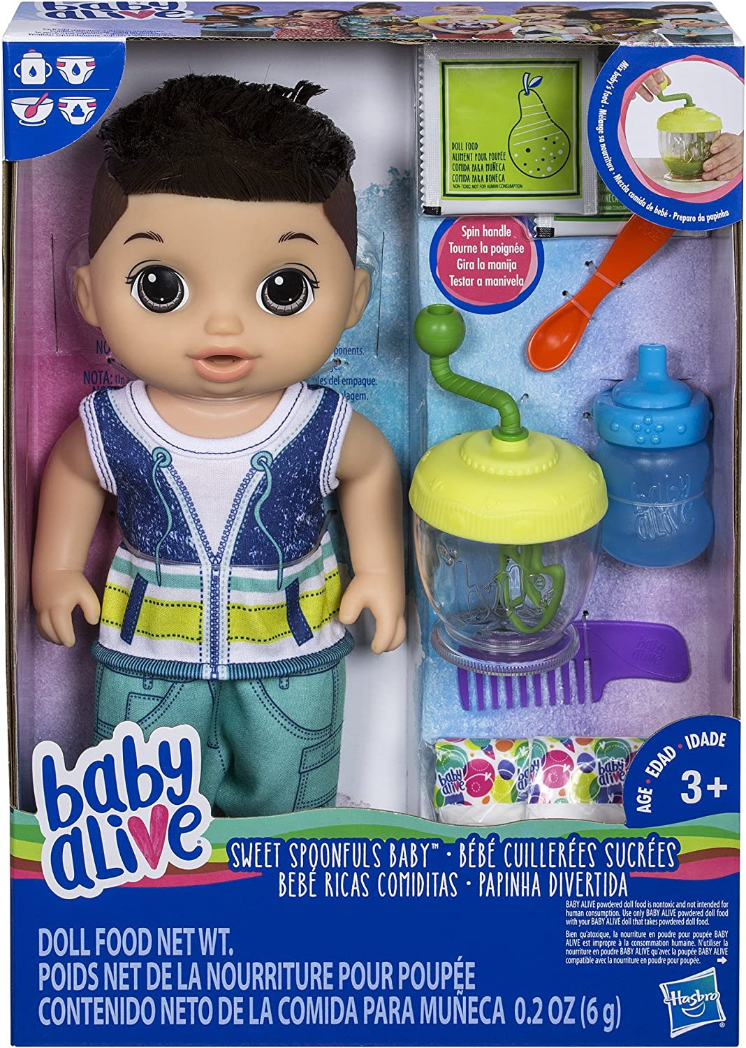 Amazon Com Baby Alive Sweet Spoonfuls Baby Doll Boy Brunette Hasbro Toys Games