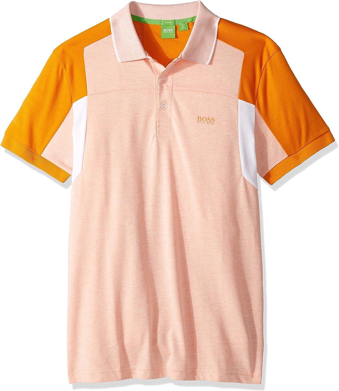 Hugo Boss Hombres Camisa Polo - Anaranjado -: Amazon.es: Ropa y accesorios