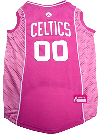 9a803d434 Amazon.com   NBA BOSTON CELTICS Pink DOG Jersey