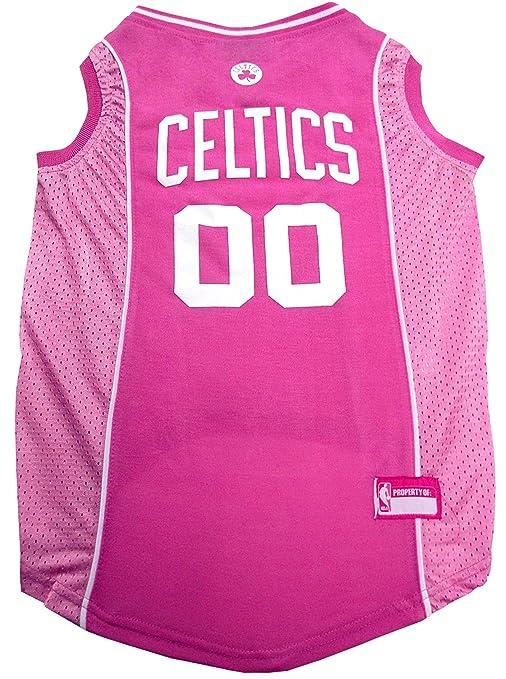 cb86412d Amazon.com : NBA BOSTON CELTICS Pink DOG Jersey, Medium : Pet Supplies