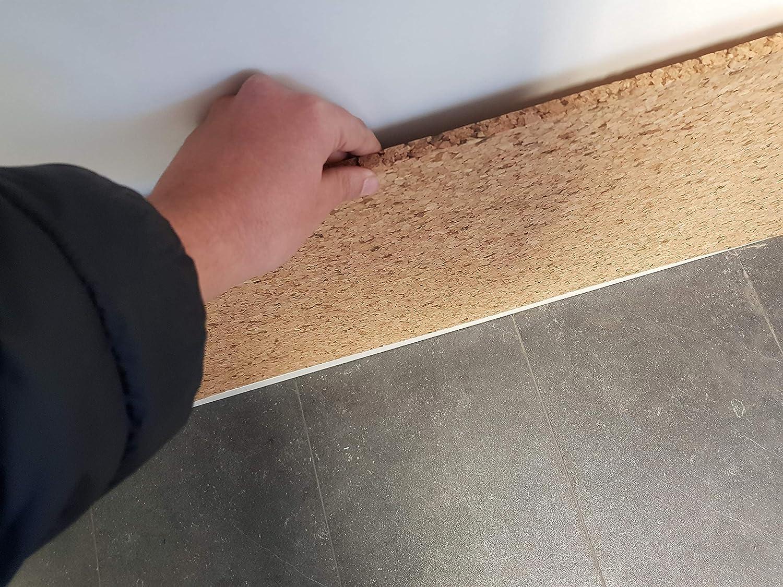 Placa de corcho natural 100 cm x 50 cm x 4 cm