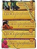 ChocoPerfection 6-bar Box, Variety Package, 2 Dark Mint, 1 Dark, 1 Milk, 1 Dark Raspberry and 1 Dark Almond Bar
