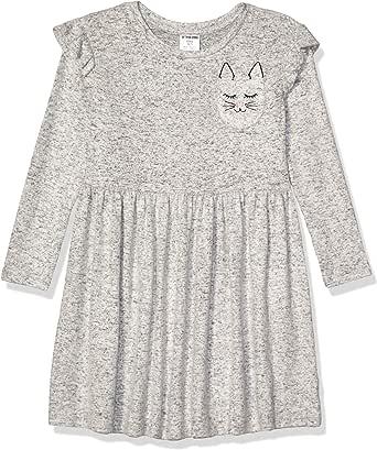 Marca Amazon - Spotted Zebra Cozy Knit Dress Niñas