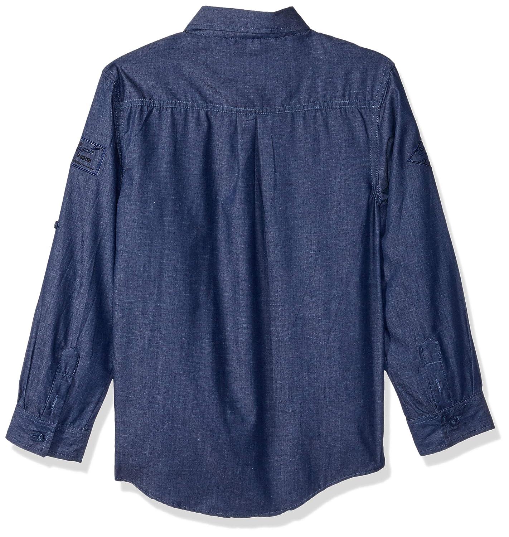 32b57f72f69 Amazon.com: English Laundry Boys' Long Sleeve Embroidered Sport Shirt:  Clothing