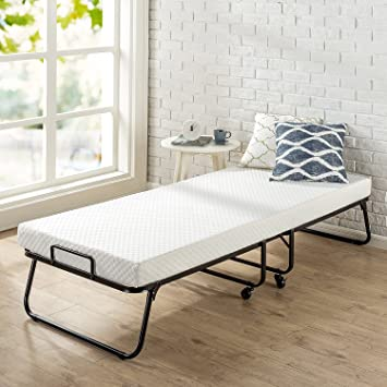 Amazon Com Zinus Roll Away Folding Guest Bed Frame With 4 Inch
