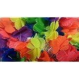 12 - 240 100cm Hawaiian Lei Neck Garlands (party bag filler, fancy dress, beach party adults or kids) - UK Seller (12)