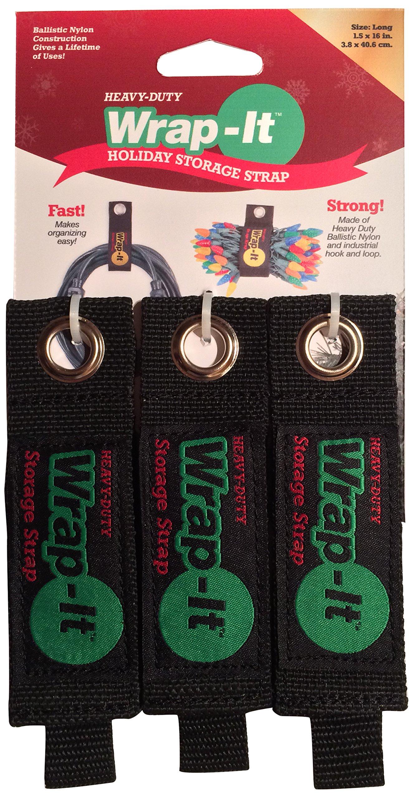 Wrap-It Storage Straps 203-20B Straps, Regular, Black