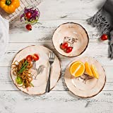 Melamine Dinnerware Set for 4-12pcs Camping Dishes Set for Outdoor Indoor Use, Dishwasher Safe, Break-Resistant, Animal Pattern