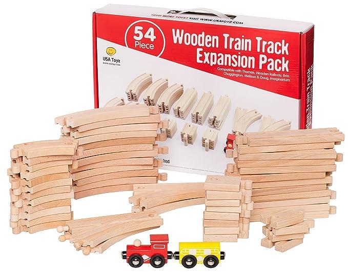Amazon USA Toyz Wooden Train Tracks Set