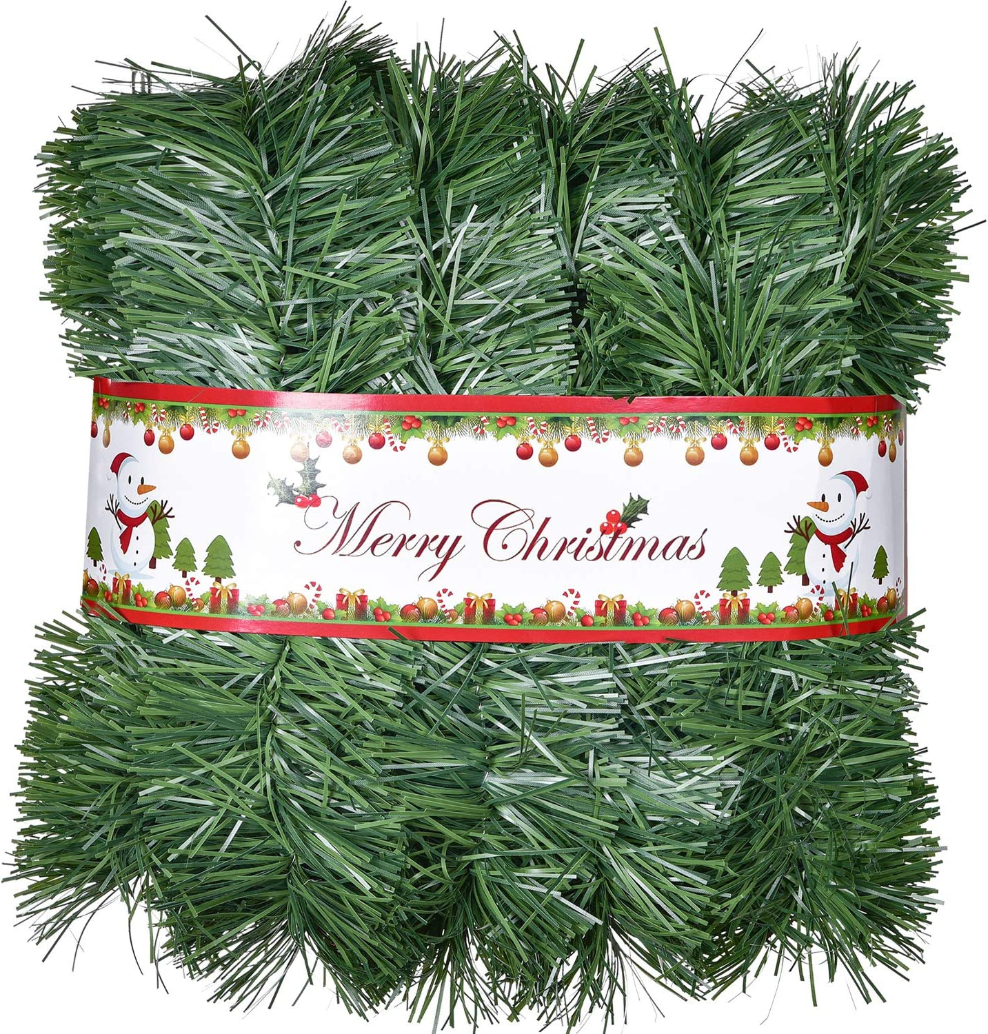 DearHouse 33 Foot Christmas Garland, Artificial Pine Garland Holiday Decor for Outdoor or Indoor Home Garden Artificial Green Greenery, or Fireplaces Holiday Party Decorations