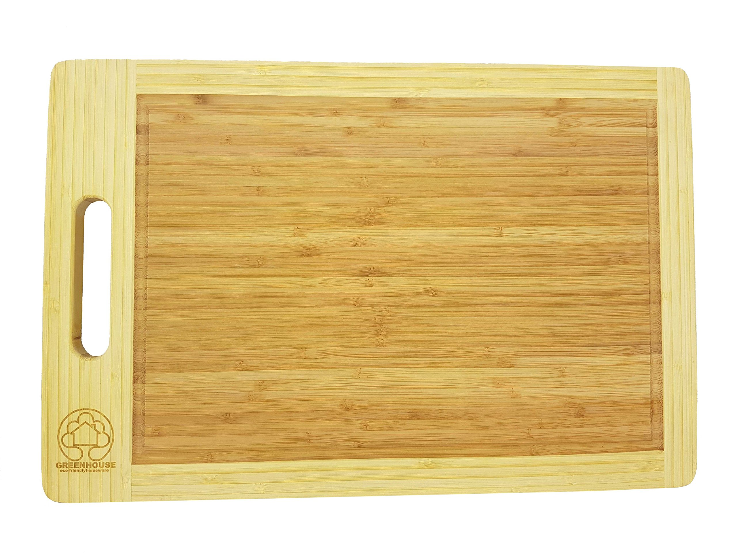 xl cutting board bamboo large end grooves chopping wood kitchen butcher block us ebay. Black Bedroom Furniture Sets. Home Design Ideas