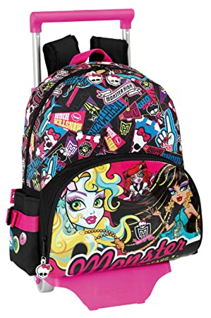 Monster High - Mochila infantil con ruedas (Safta 611343020): Amazon.es: Equipaje