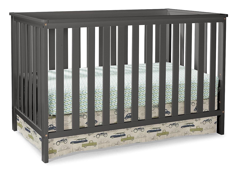 amazon com storkcraft rosland 3 in 1 convertible crib gray baby