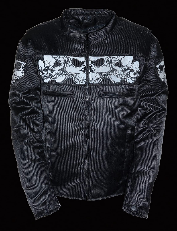 1 Pack Black, 5X-Large Milwaukee Performance MPM1730-BLK-5X Mens Reflective Skulls Textile Jacket