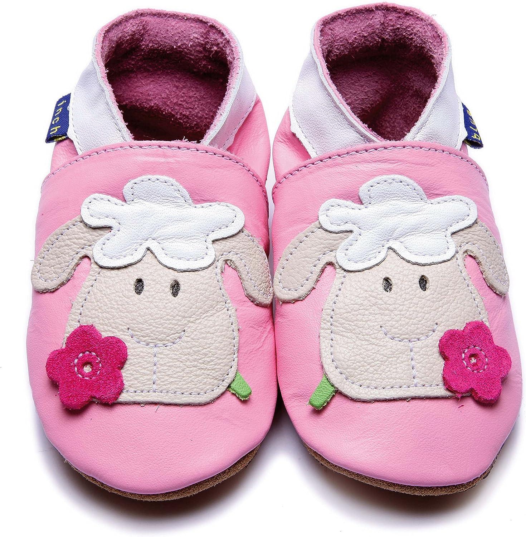 - Rose Inch Blue White Gift Box, Fille Chaussures Souples pour b/éb/é
