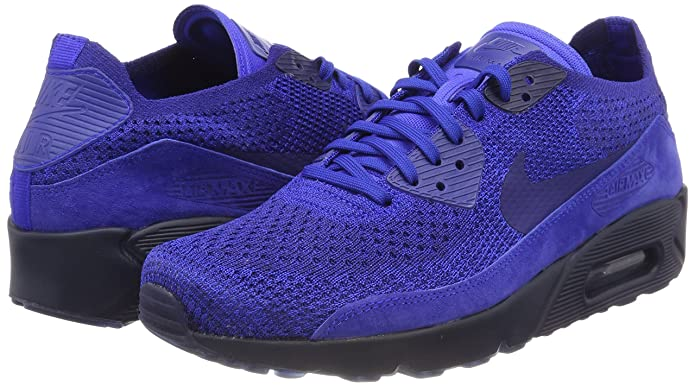 sale retailer 3e3aa 423e4 Nike Men's Air Max 90 Ultra 2.0 Flyknit Racer Blue 875943-402 (Size: 9)