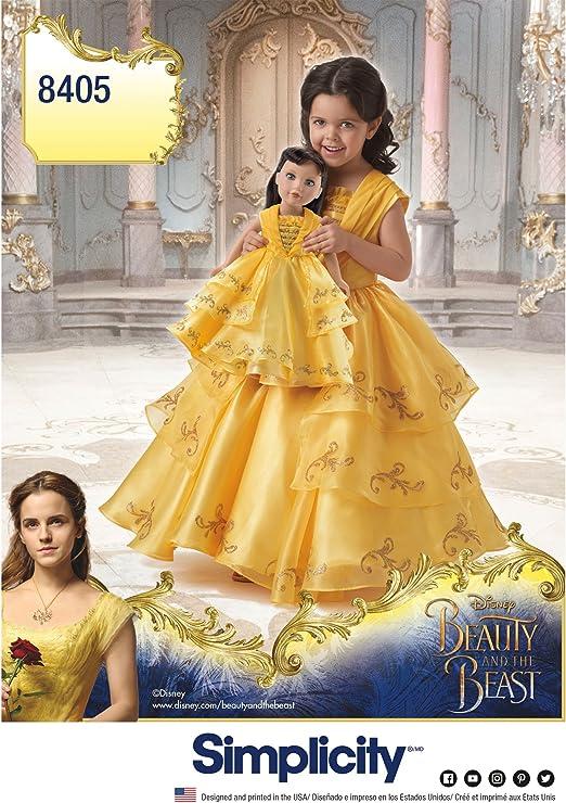 Simplicity 8405 Disney - Disfraz de Bella y la Bestia para niño y ...