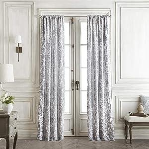 Croscill Saffira Curtains 82 x 84, White