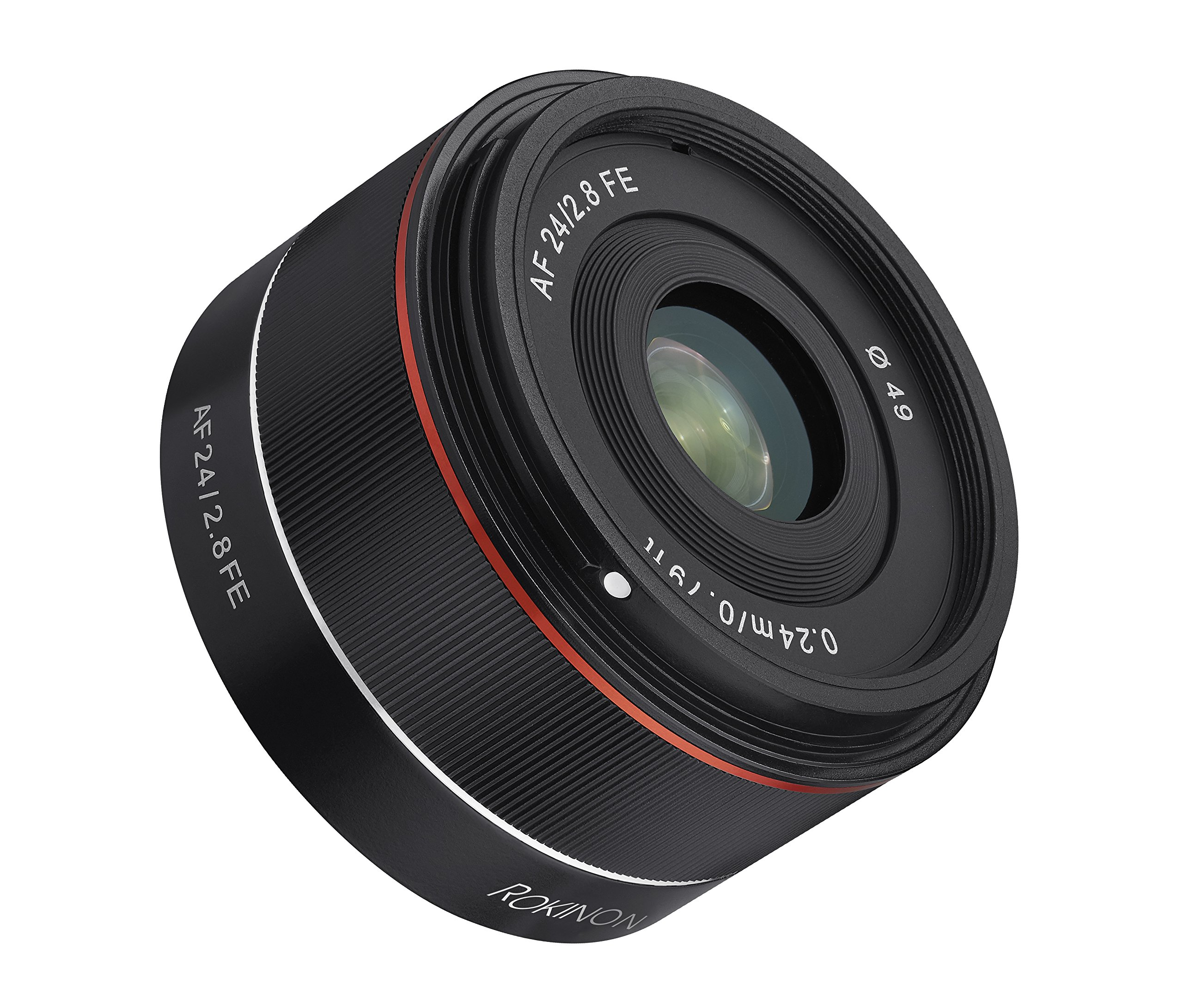 Rokinon AF 24mm f/2.8 Wide Angle Auto Focus Lens for Sony E-Mount, Black by Rokinon