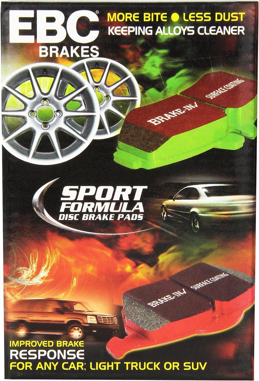 Disc Brake Pad Set-EBC 6000 Series Greenstuff Truck//SUV Brakes Disc Pads Rear