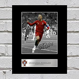 Cristiano Ronaldo Photo dédicacée encadrée Portugal