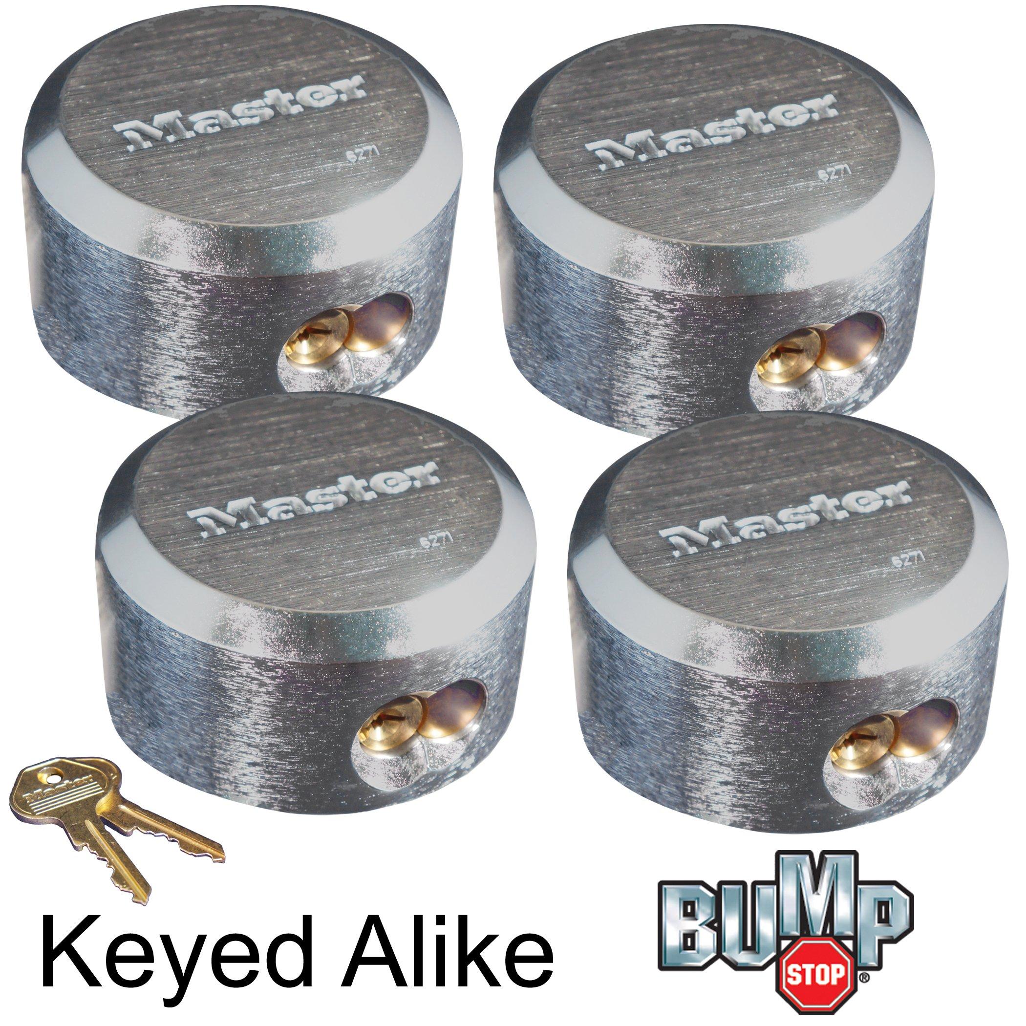 Master Lock Hidden Shackle Keyed Alike Locks 6271NKA-4 BUMP PROOF