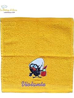 Toalla de rizo de algodón Calimero personalizado con bordado del nombre – disponible en diferentes tamaños