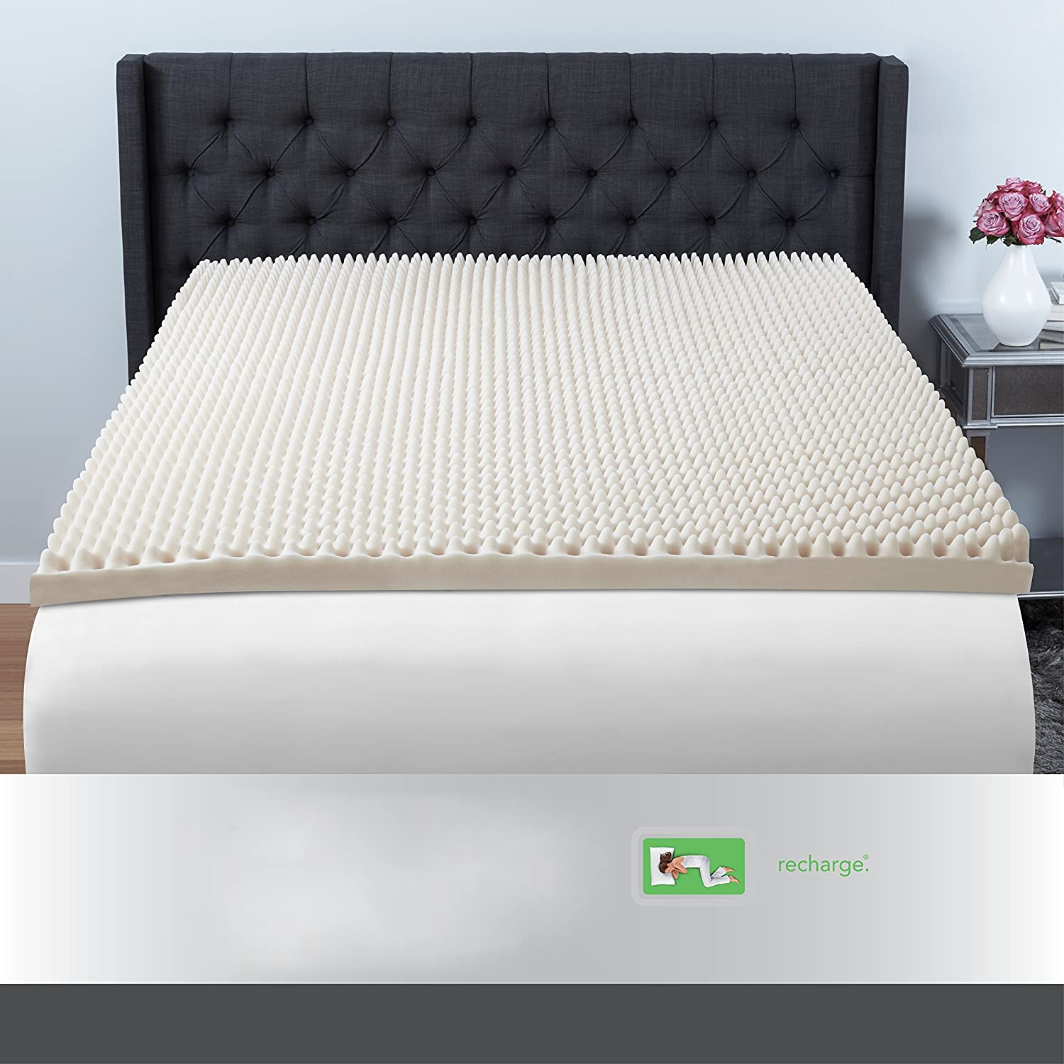 3 inch twin size memory foam mattress topper sleep pad bed cover egg crate room 25695207695 ebay. Black Bedroom Furniture Sets. Home Design Ideas