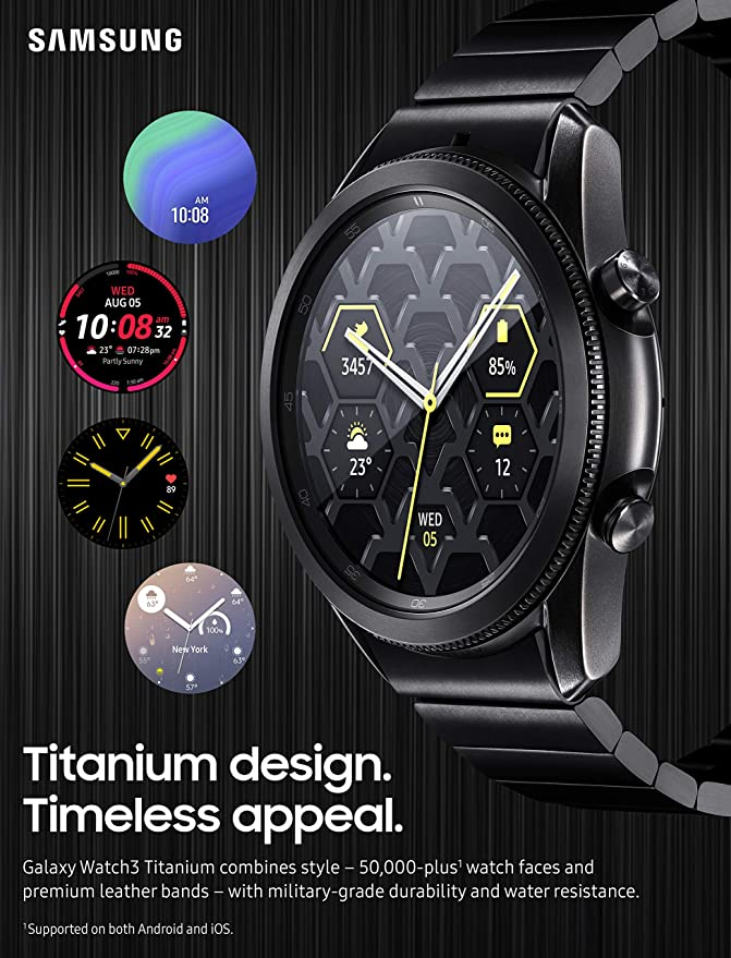 Samsung Galaxy Watch 3 45mm R840 Titanium - گلکسی واچ سامسونگ آر ۸۴۰