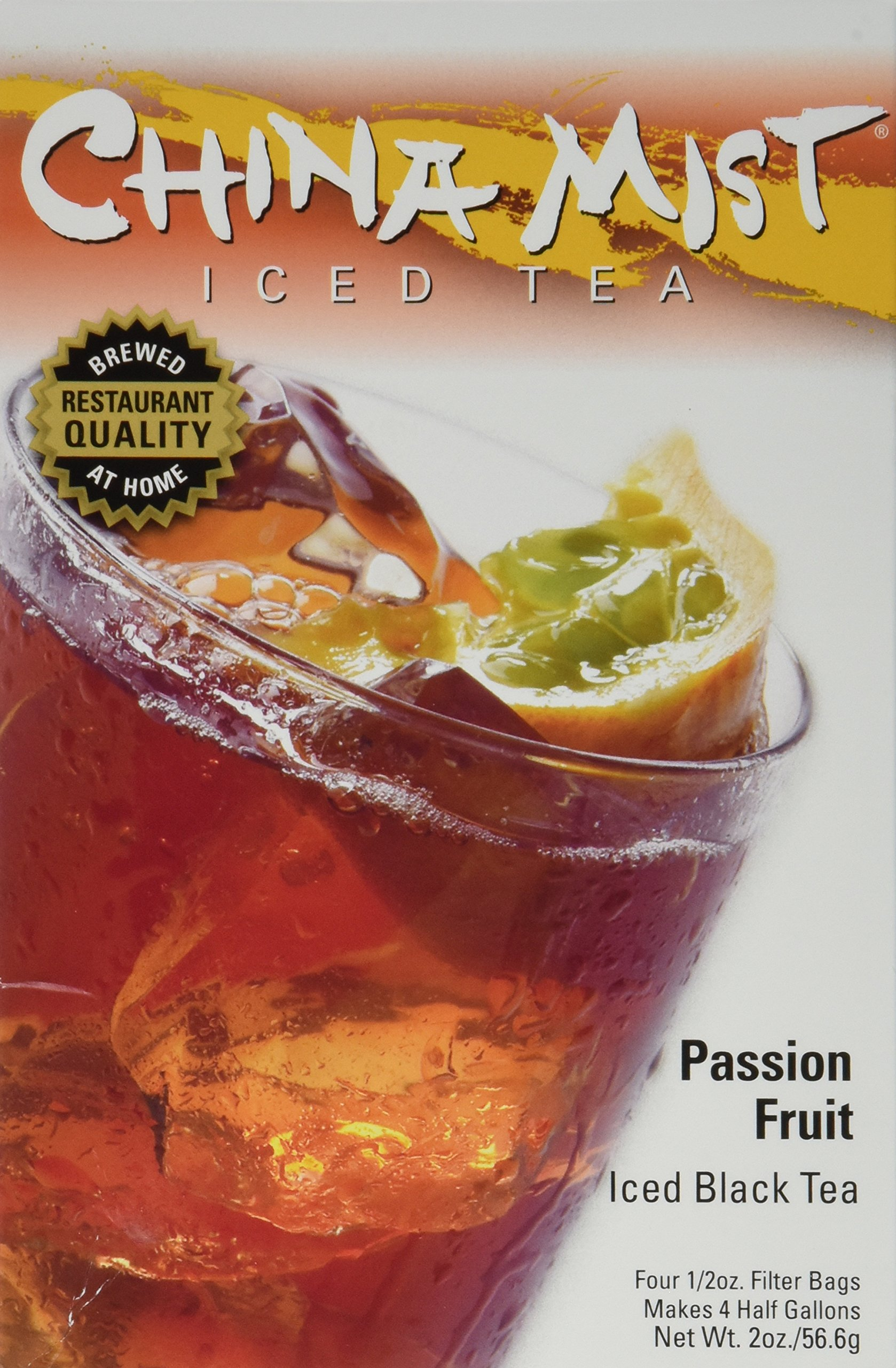 China Mist Iced Tea Brew at Home Iced Tea, Passion Fruit, 2 Ounce Packages (Pack of 2)
