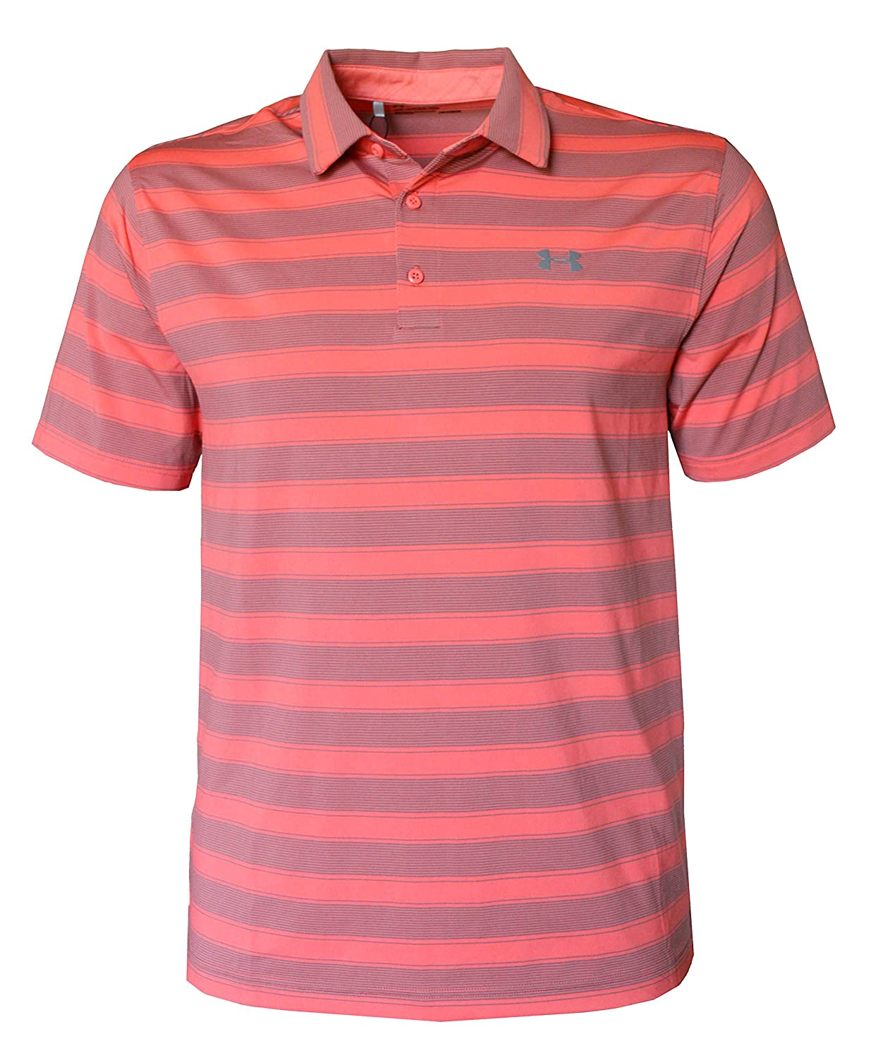 0aa02e91c Amazon.com: Under Armour Men's Performance Golf Polo Shirt Striped Top (M):  Clothing
