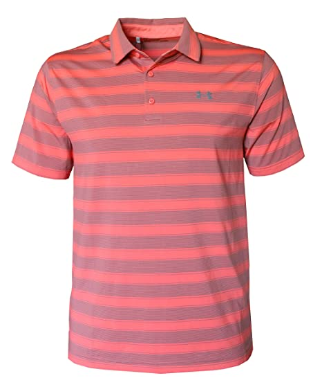 16b7a75f Amazon.com: Under Armour Men's Performance Golf Polo Shirt Striped ...
