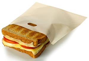 RL Treats Non Stick Reusable Toaster Bags for Sandwich and Grilling, Pack of 3