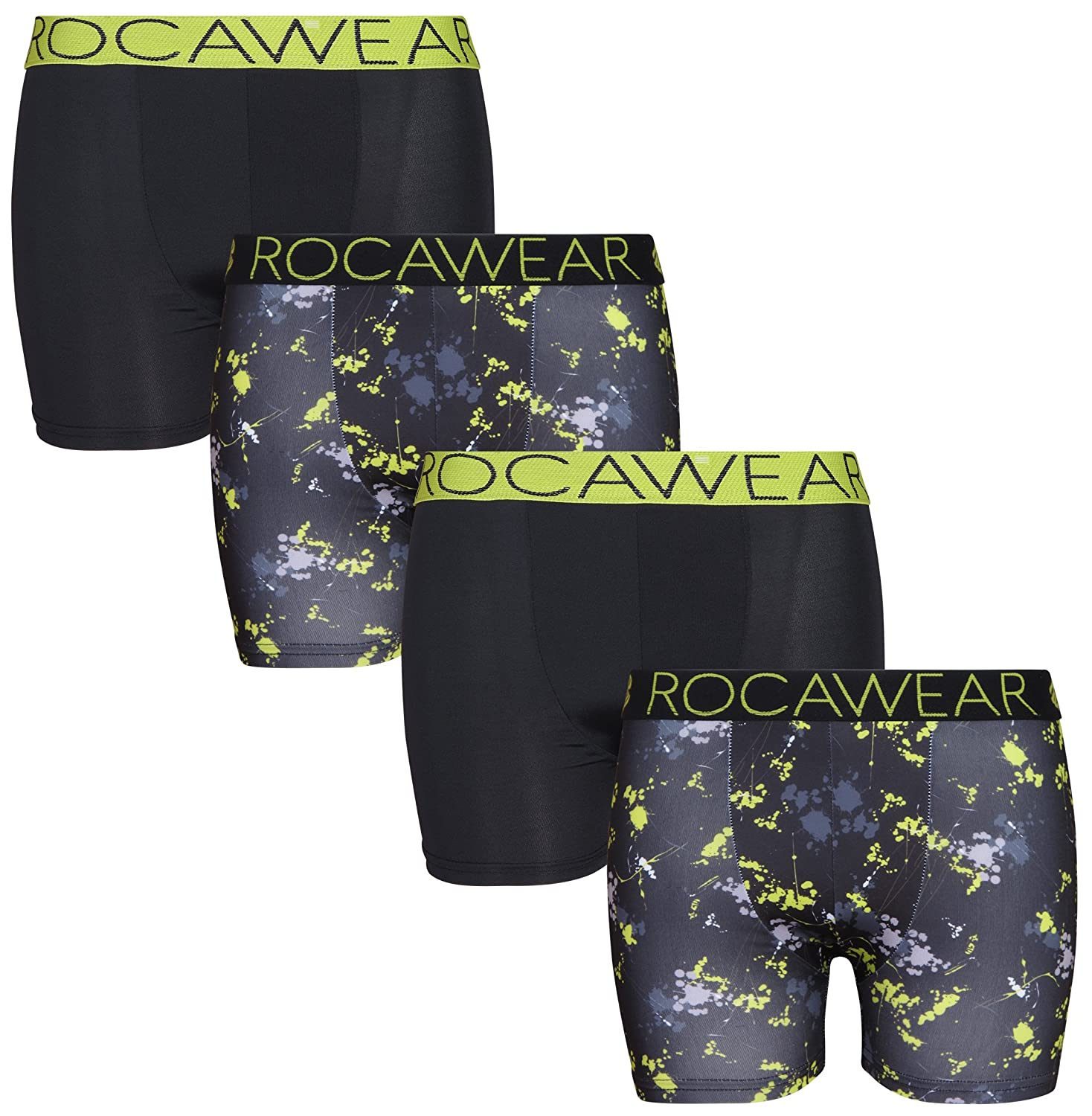 Rocawear Boy's (4 Pack) Performance Boxer Brief Underwear, More Colors Available