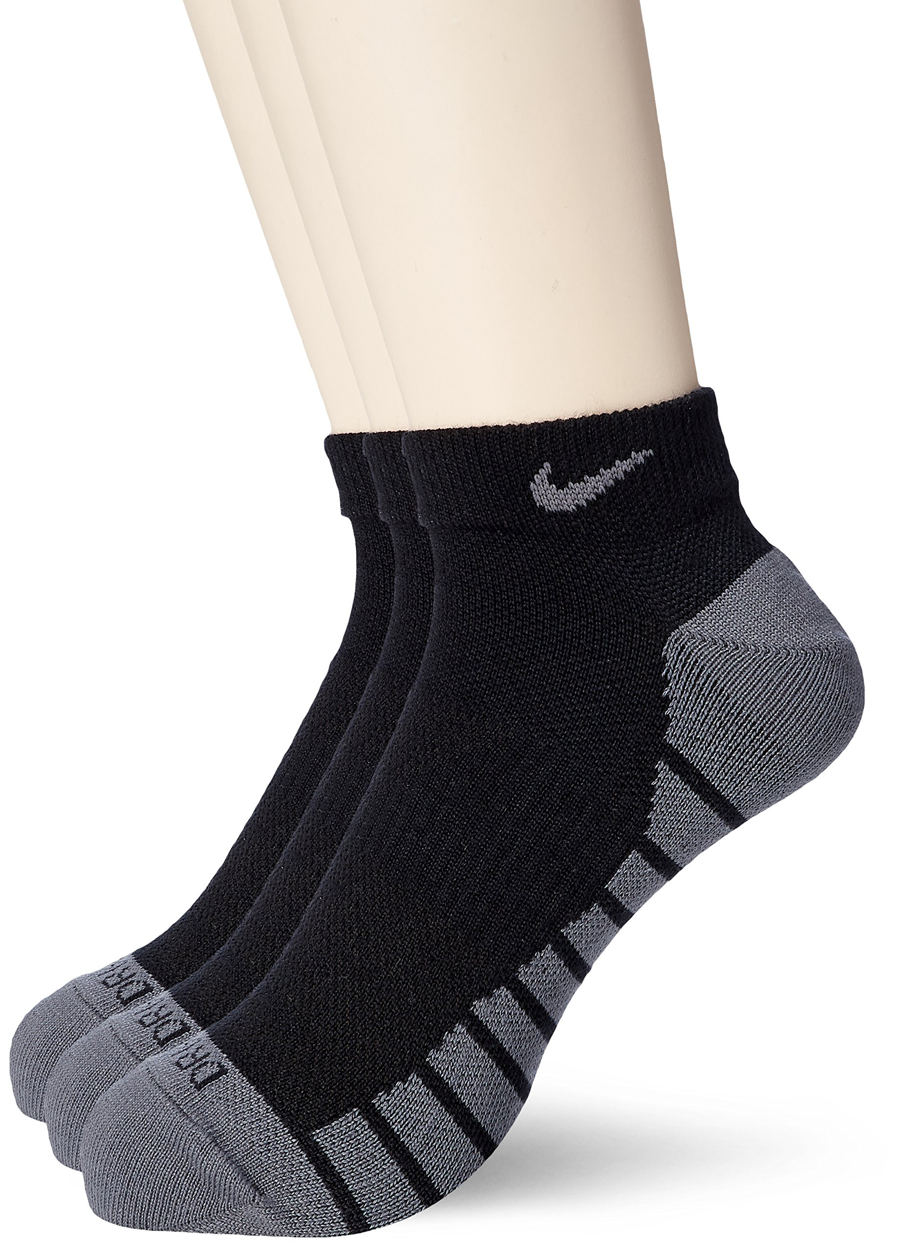 Nike Lightweight 3 Pair Golf Socks 2019 Black/Dark Gray X-Large by Nike