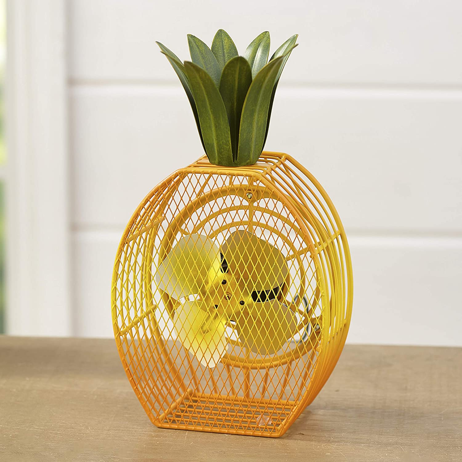 Pineapple USB Fan for Desktops - Home and Office Tropical Decor for Work