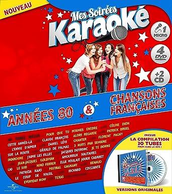 Coffret Karaoké Exclu Carrefour 4 DVD + Micro + 2 CD : Années 80 / Chanson