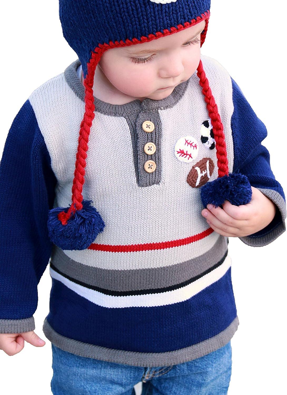 7a4c7b0b9 Amazon.com  Huggalugs Boys All Star Sports Sweater  Clothing