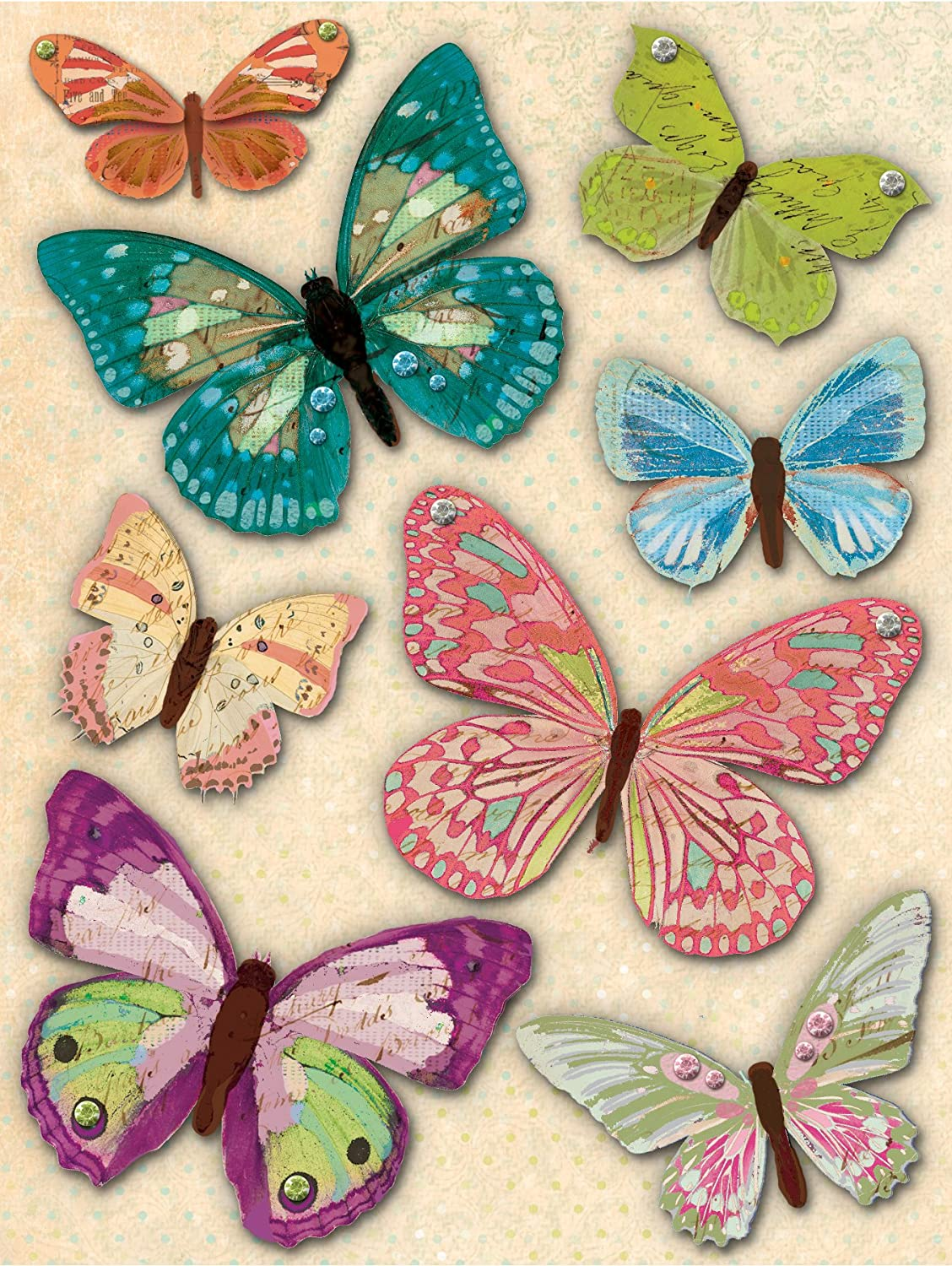 K&Company Jubilee Butterfly Grand Adhesion Stickers