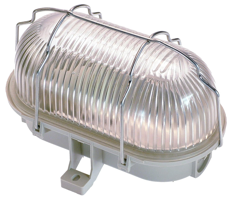 as - Schwabe LED-Lampe, Ovalleuchte für Aussen, Werkstatt, 7 W, grau ...