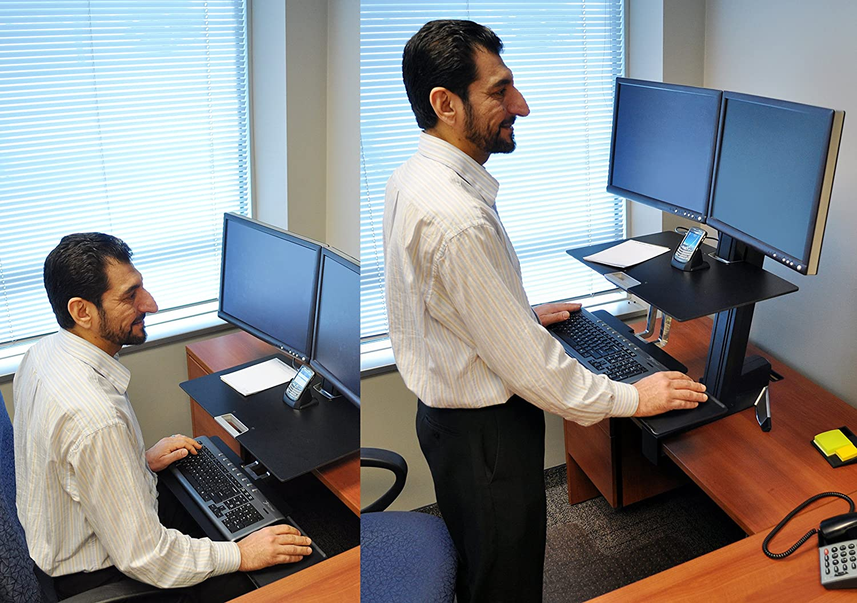 Amazoncom Ergotron WorkFitS 33341200 Dual SitStand