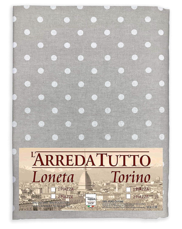 /2/places Drap ameublement Meubles Grand Foulard Couvre-lit Canap/é tissu proven/çaux pois blanc/